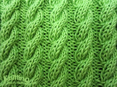 Corded Cable Rib Knitting Stitch Patterns