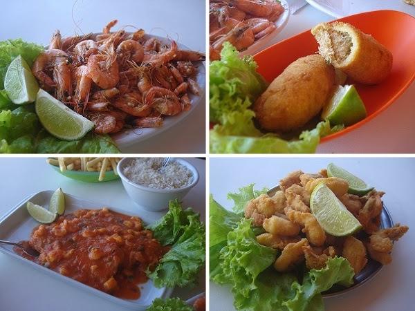 Terra Santa (Canasvieiras): Ótima sequência de camarão