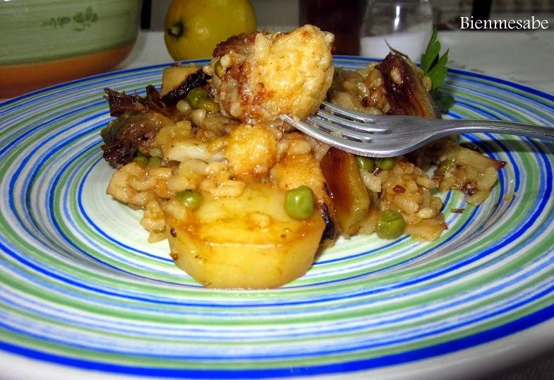 arroz con verduras y bacalao2