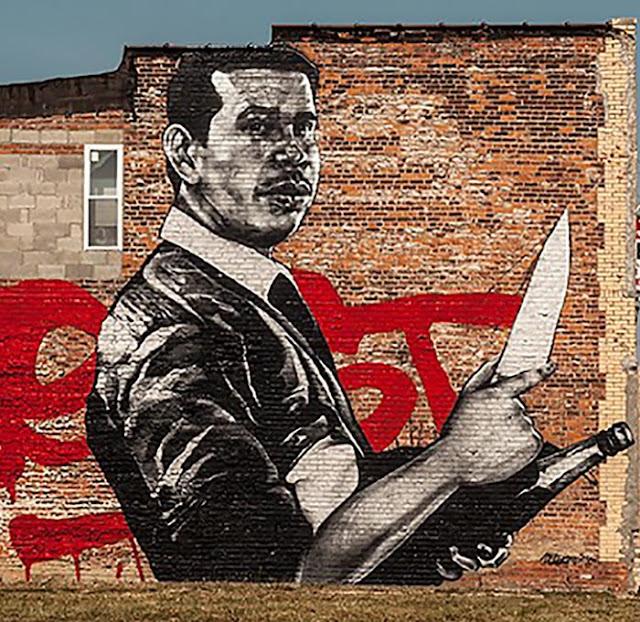 Askew Tribute To Nekst Street Art Mural In Detroit - Close up