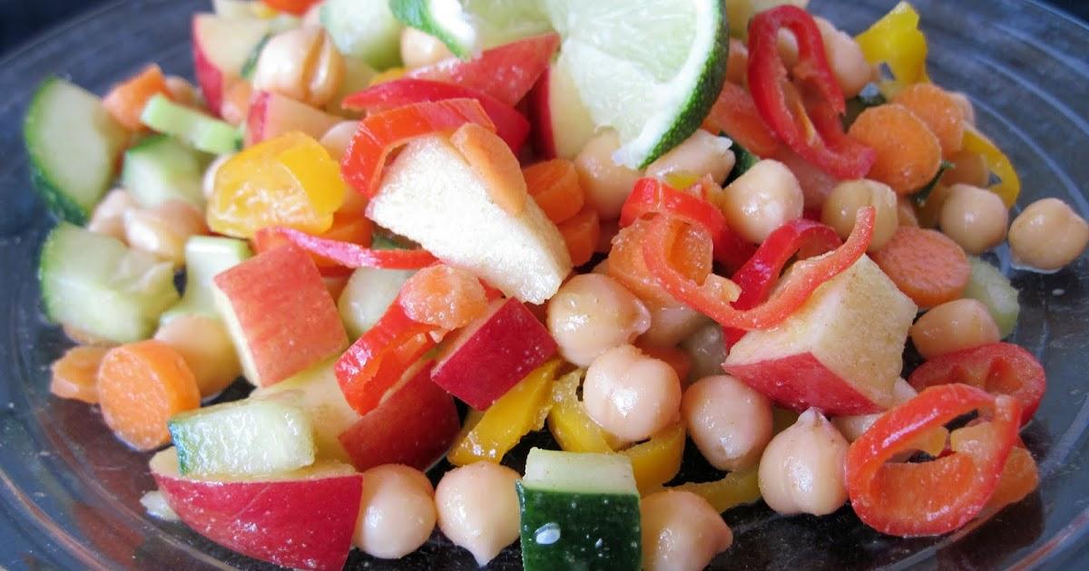 ... What's for Dinner? Chunky Vegetable Salad with Lemon-Cumin Vinaigrette