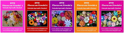 dvd 5 volumes com 64 flores na loja cursodecroche com frete gratis