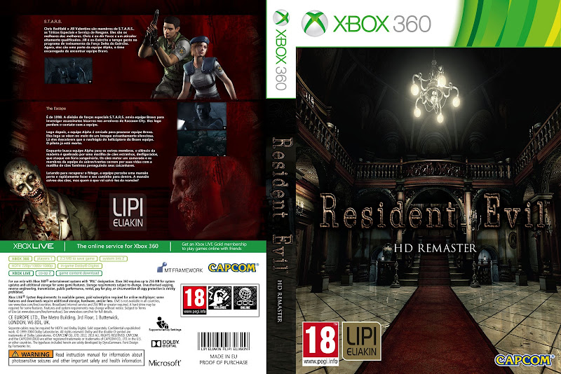 Capa Resident Evil HD Remaster Xbox 360 [Exclusiva]