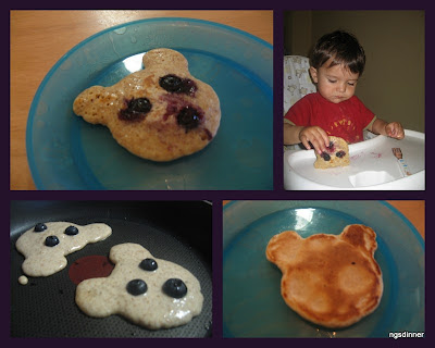 Whole Wheat Blueberry Teddy Bear Pancakes by ng @ Whats for dinner?