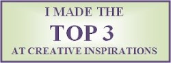 Ik sta in de top 3 bij de creative inspiration wensday challenge
