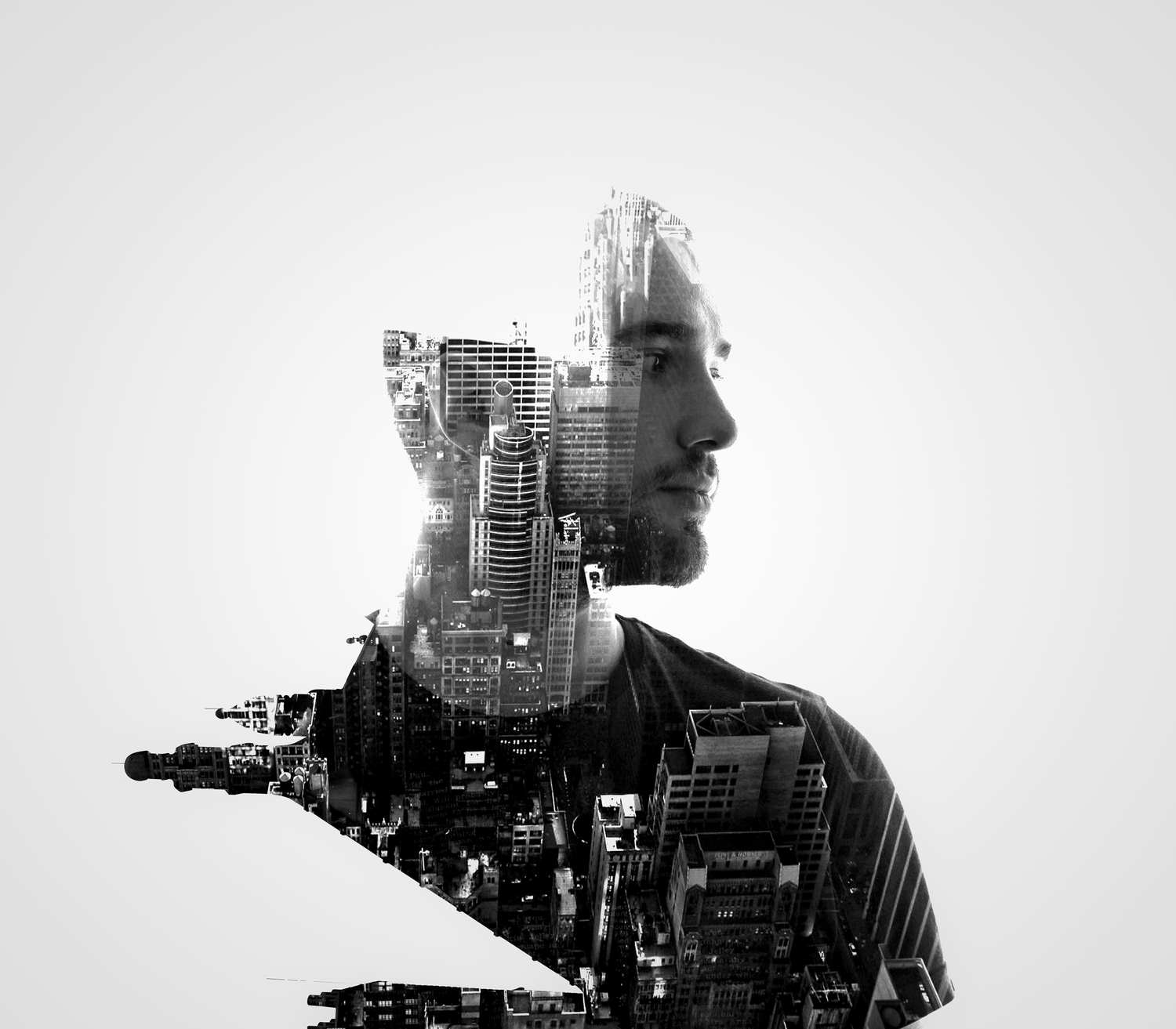 double exposure portraits by erkin demir photogrist. Black Bedroom Furniture Sets. Home Design Ideas