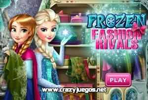 Juega Frozen Rivales de Moda