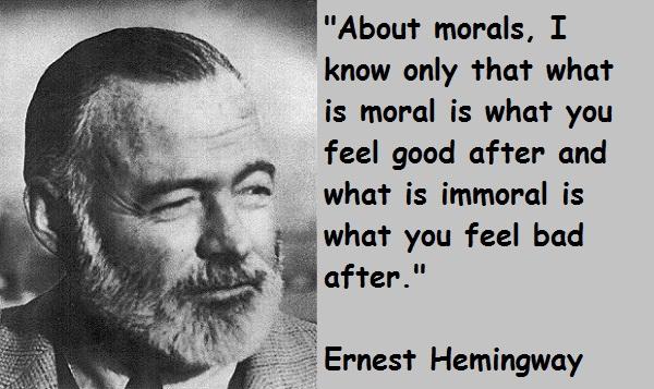 Bytes: Quotes: Ernest Hemingway