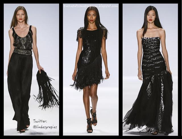 Como usar un vestido negro largo de noche