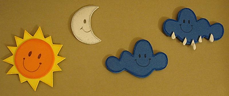 Los niños y la Biblia: Dios Hizo el sol, la luna y las nubes.