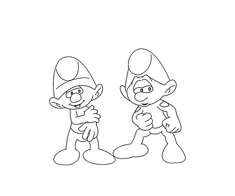 #15 Clumsy Smurf Coloring Page