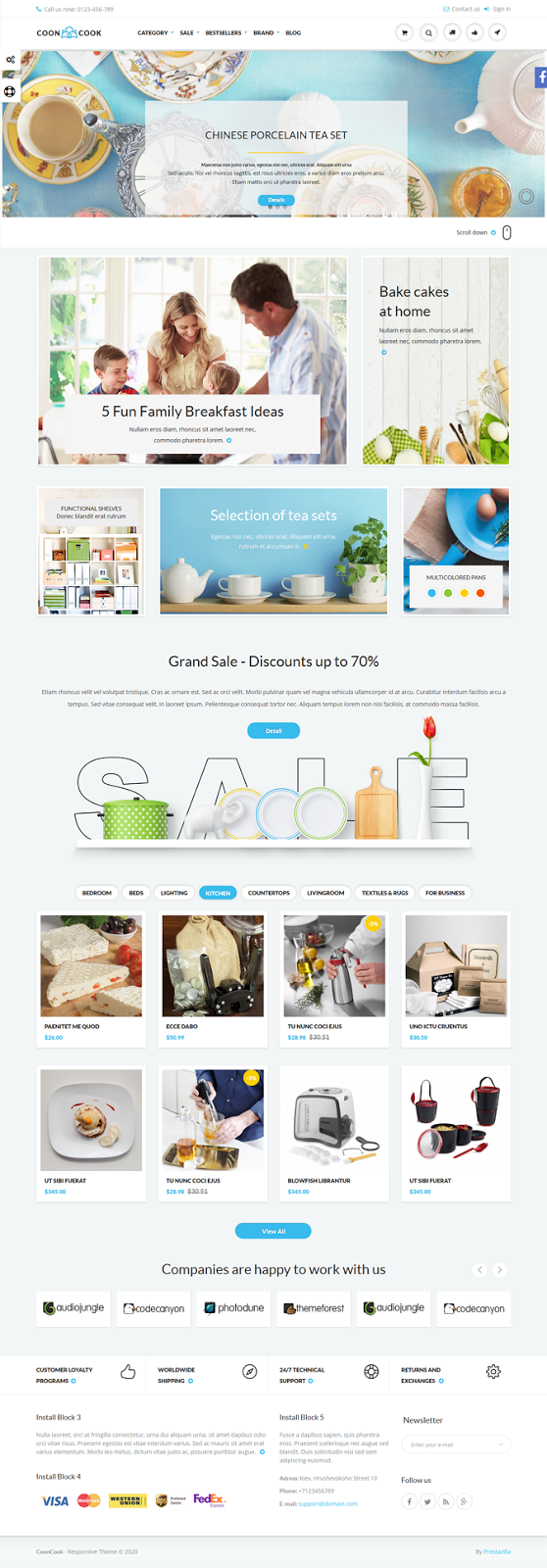 responsive ecommerce template