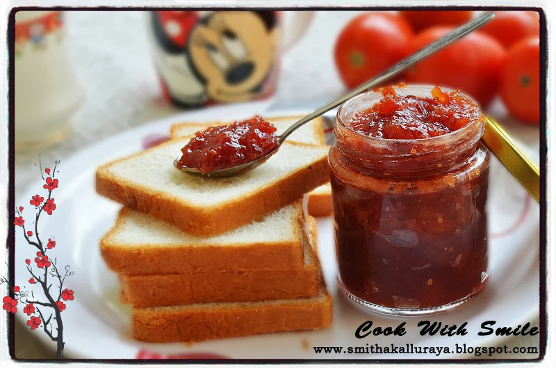 Tomato jam indian recipe,homemade tomato jam,no preservative tomato ...