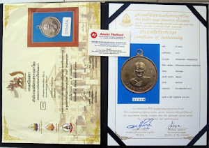 Certificied Sammakom and competisi Lp Phrom Wat Chongkae Rian Klom Lang Pidta BE2513