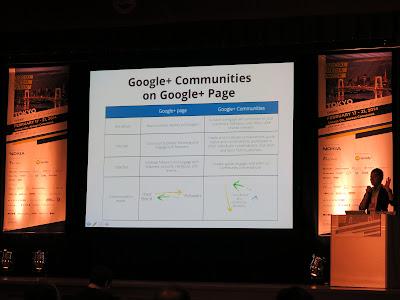 Google+ Communities on Google+ Page
