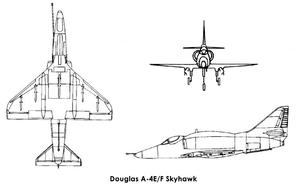 مواصفات الطائرة إيه-4 سكاي هوك,شكل الطائرة سكاي هوك