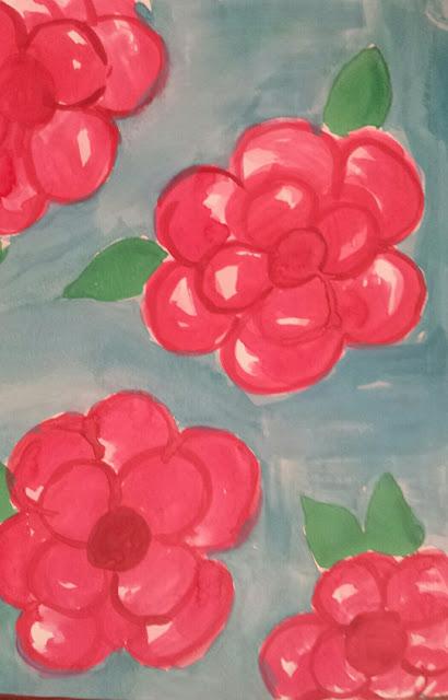Pinkalicious- watercolor- write 31 days