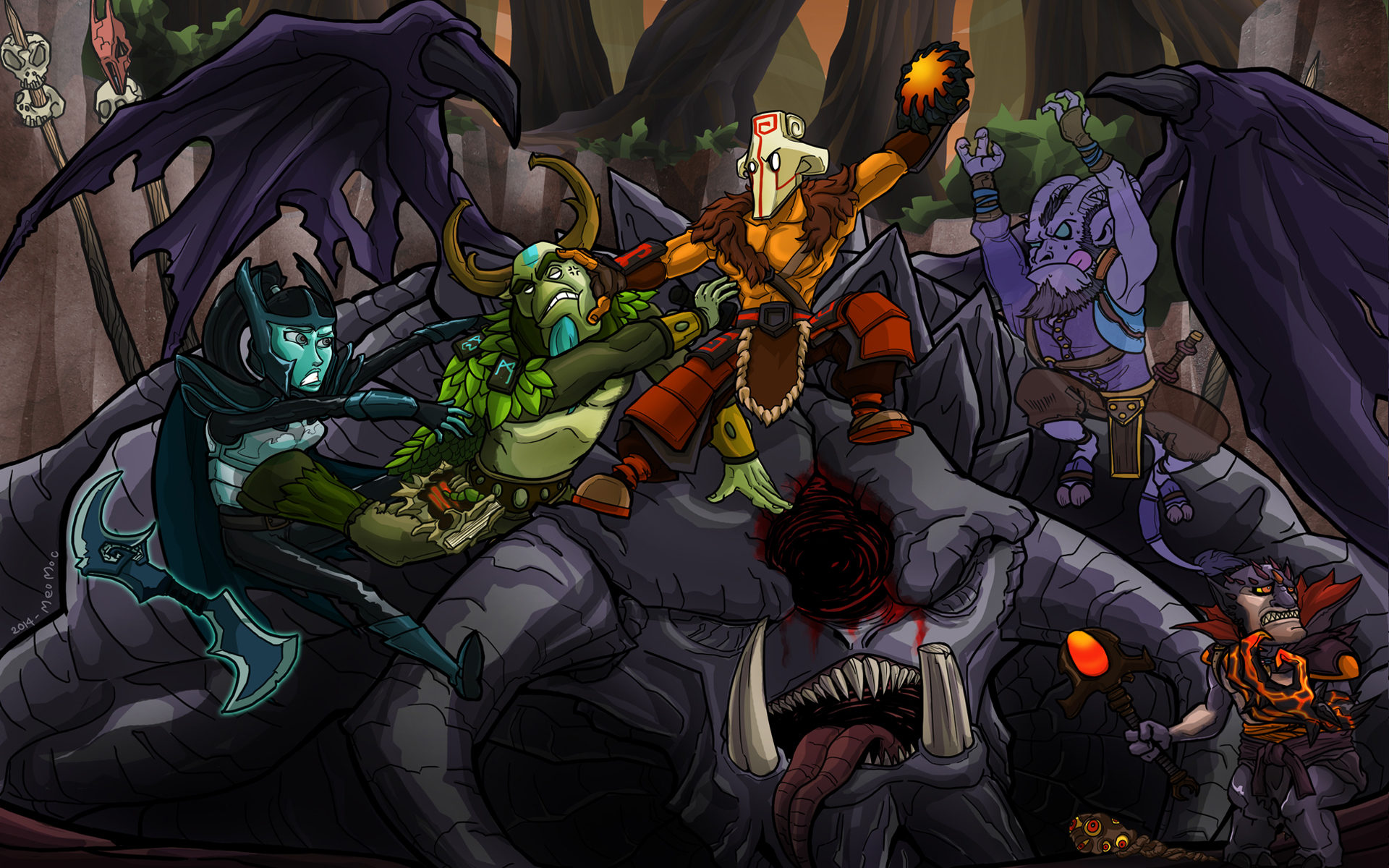 Group Of Riki Funny Wallpaper