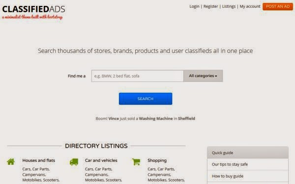 Free Bootstrap Classifieds Template