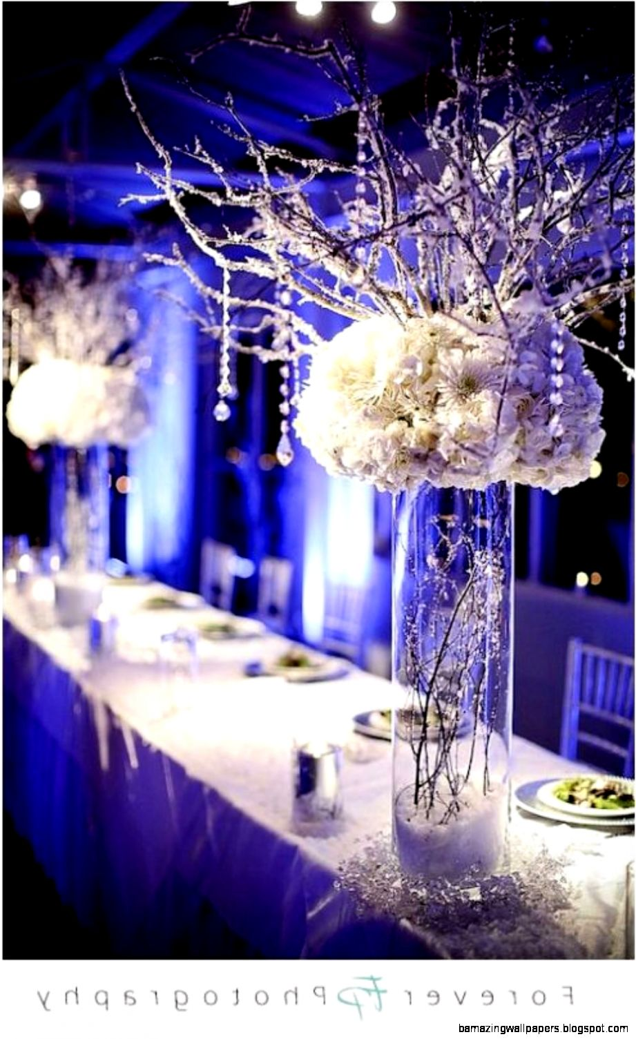 Winter Wonderland Wedding Centerpieces   Wedding Decor And Design