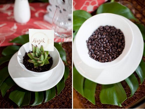 Ideas para mesas decorar con granos de caf for Decoracion de unas cafes