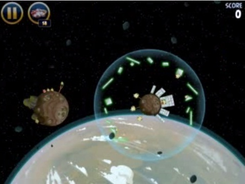 estrellas de los Angry Birds Star Wars del nivel Path of the JEDI J