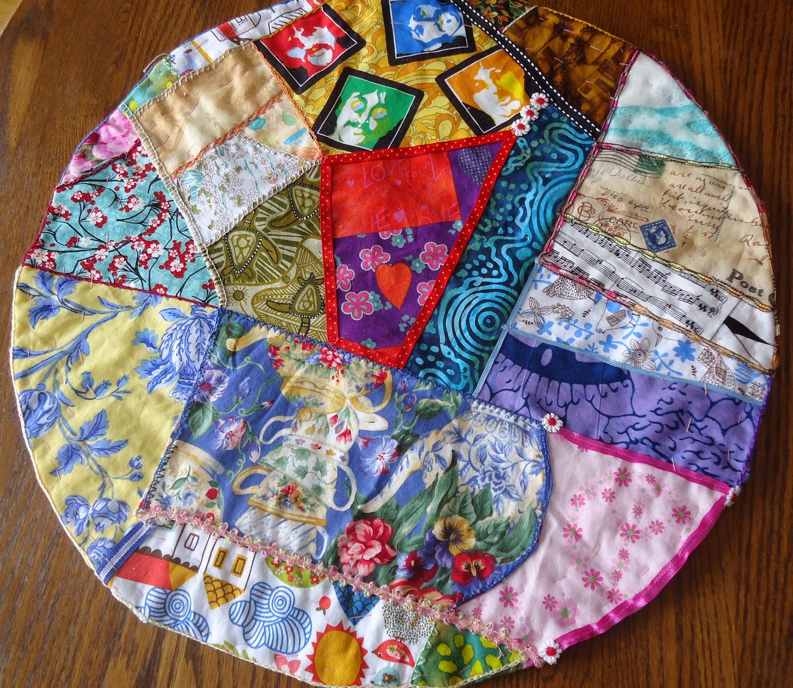 The world - crazy quilt style