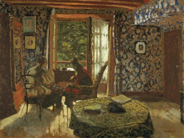 Art now and then edouard vuillard for Interieur french