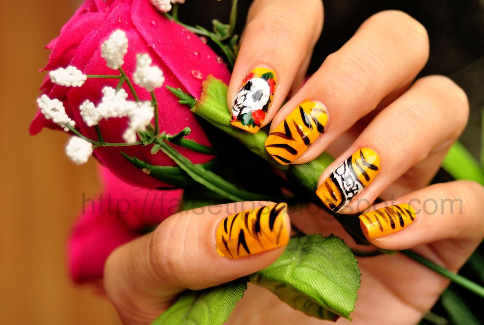 Ed Hardy Tiger Nail Art | Sebi Bebi