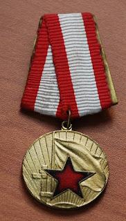 Medaglia per la distinzione nei servizi della difesa della patria (Albania durante la dittatura comunista)