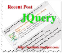Recent posts với hiệu ứng trượt bằng jQuery