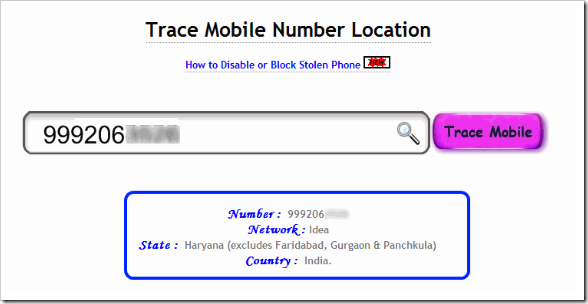mobile no tracking india software free