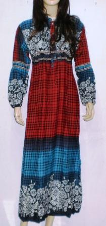 Gamis Katun Keren Gk0196 Grosir Baju Muslim Murah Tanah
