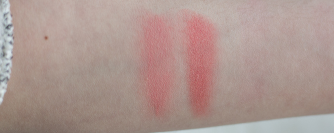 make up for ever hd cream blush in 215 and 410 swatches
