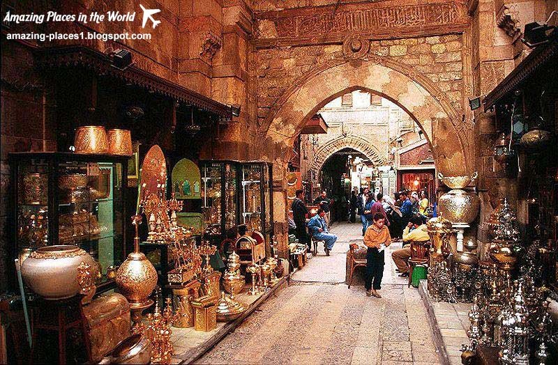 khan el khalili market, most interesting markets in the world