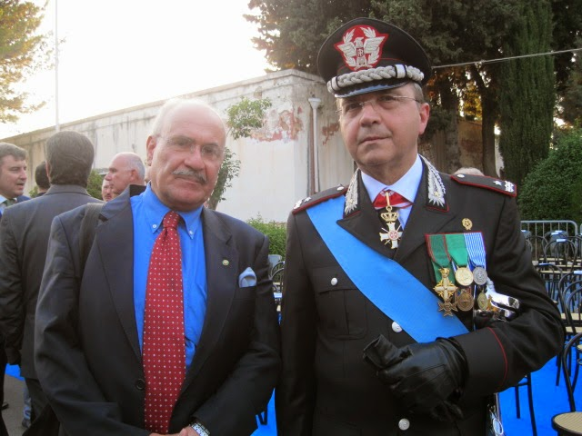 Il direttore del blog, in compagnia del Comandante Generale Regionale dei Carabinieri.