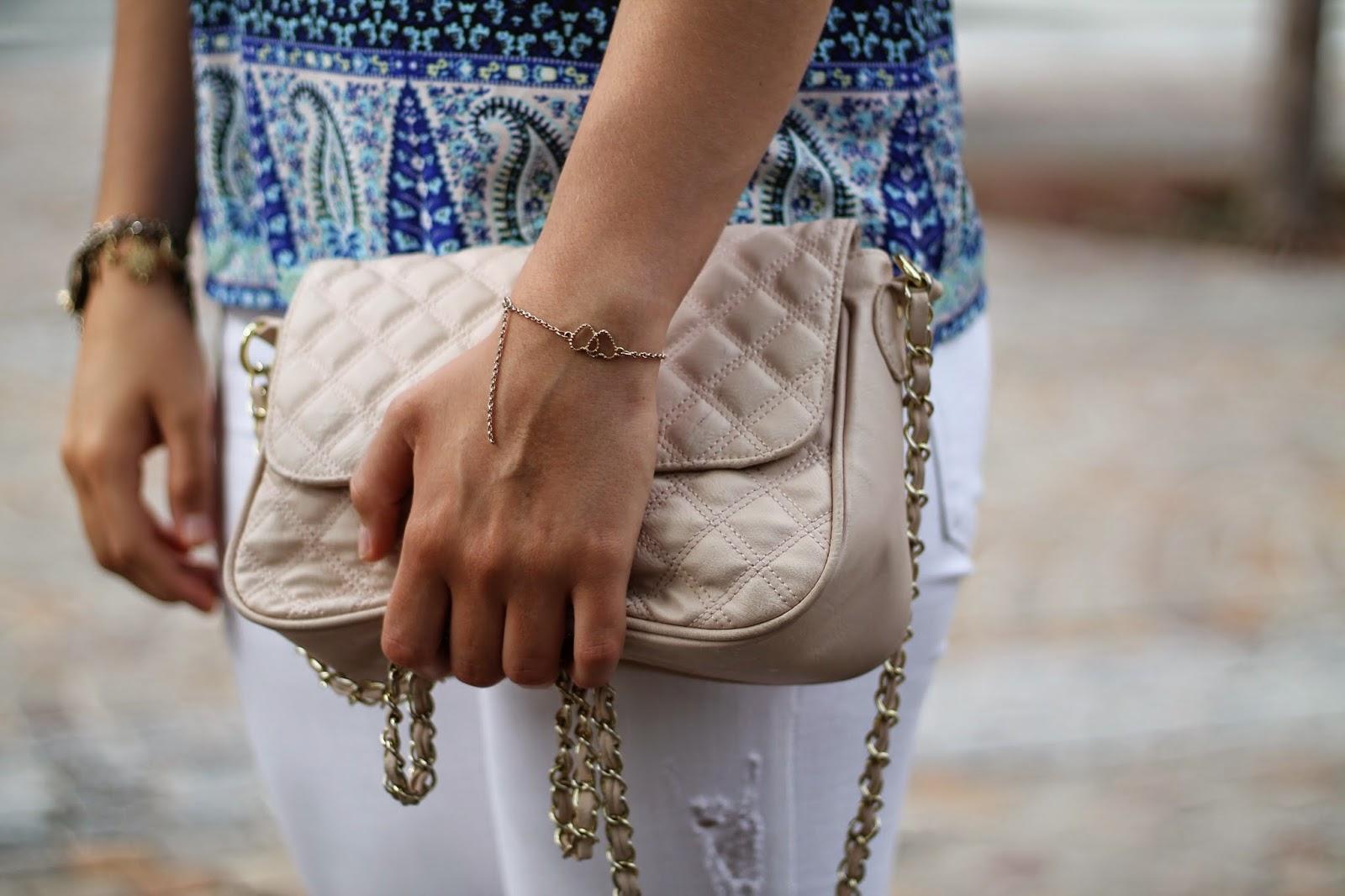 Fashionblogger Austria / Österreich / Deutsch / German / Kärnten / Carinthia / Klagenfurt / Köttmannsdorf / Spring Look / Classy / Edgy / Summer / Summer Style 2014 / Summer Look / Fashionista Look /   / Summer Look / Mango / Tally Weijl / Asos / Ray Ban / Primark / Camisole Top / White Jeans / Ray Ban Aviator Sunglasses /