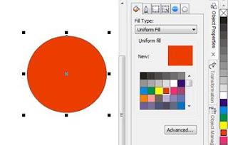 membuat lingkaran warna merah