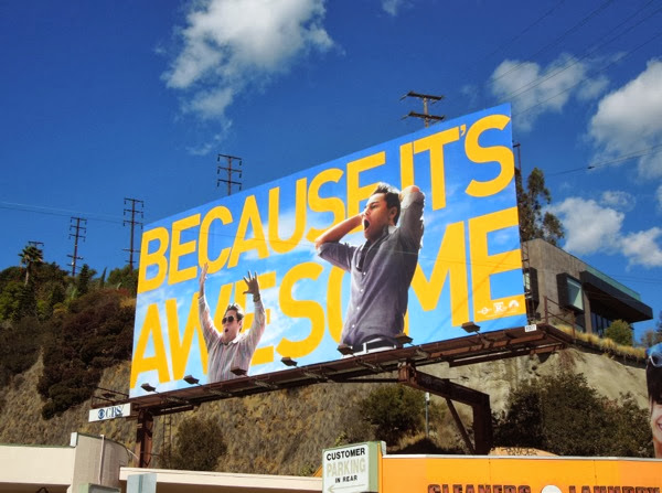 Because its awesome Wolf of Wall Street Oscar billboard