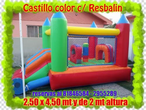 CASTILLO CON RESBALIN DE 2,5 X 4,5 Y 2 MT DE ALTURA