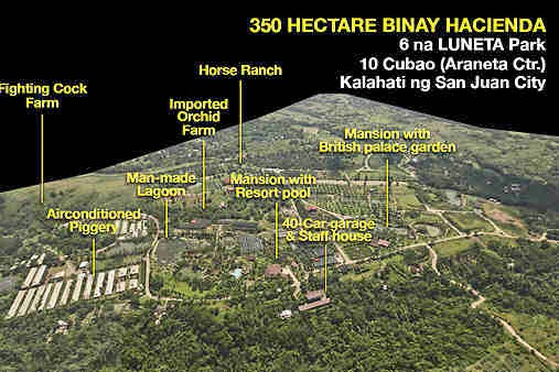 Jejomar Binay's 350-hectare mansion in batangas