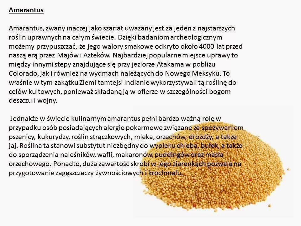 Amarantus doskonały dla alergików.