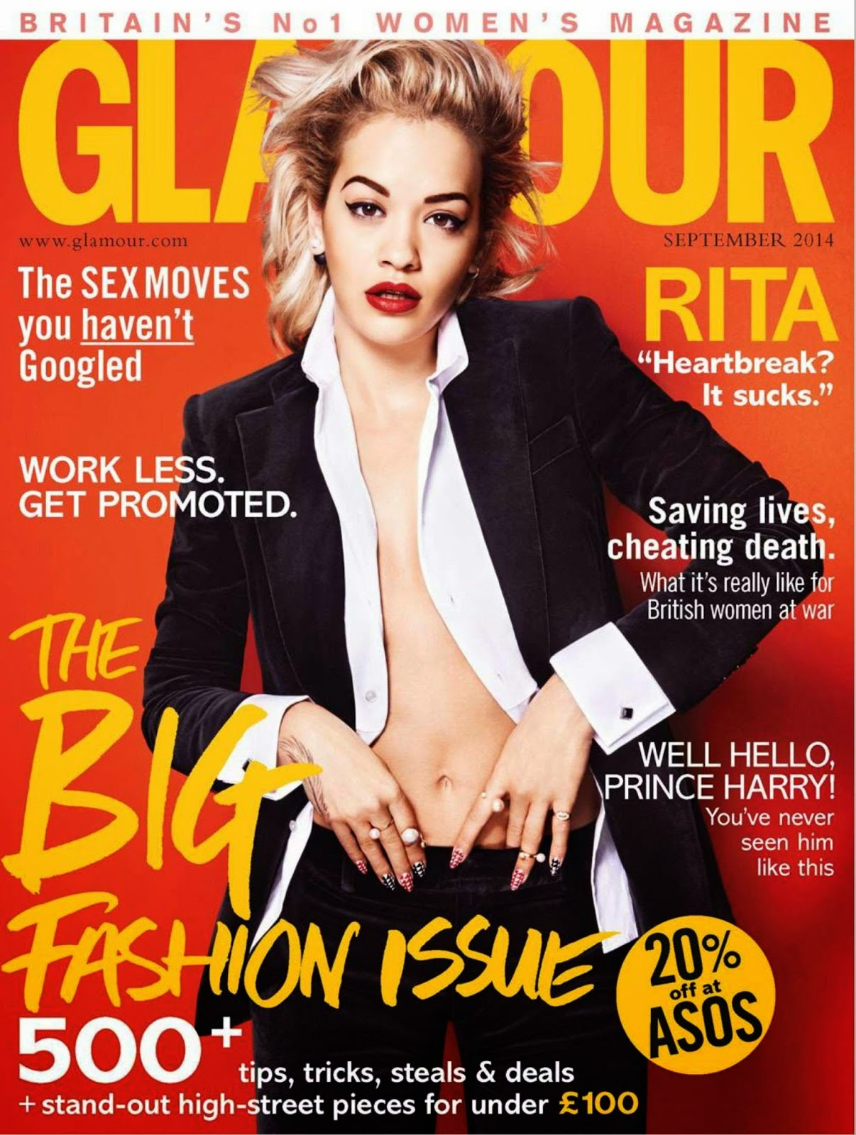 Rita Ora - Glamour Magazine, UK, September 2014