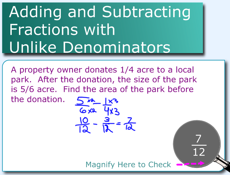 Miss Kahrimanis's Blog: Adding and Subtracting Fractions