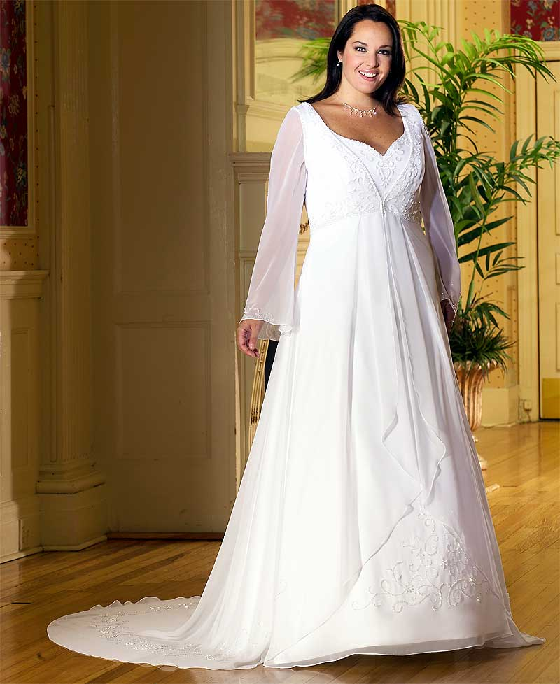 Affordable Plus Size Vintage Wedding Dresses