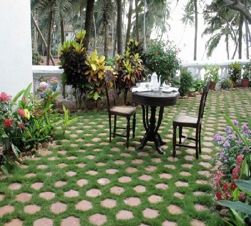 modern home design terrace garden has a deep meaning and