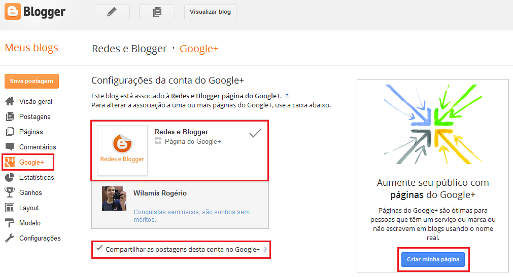 google plus no blogger