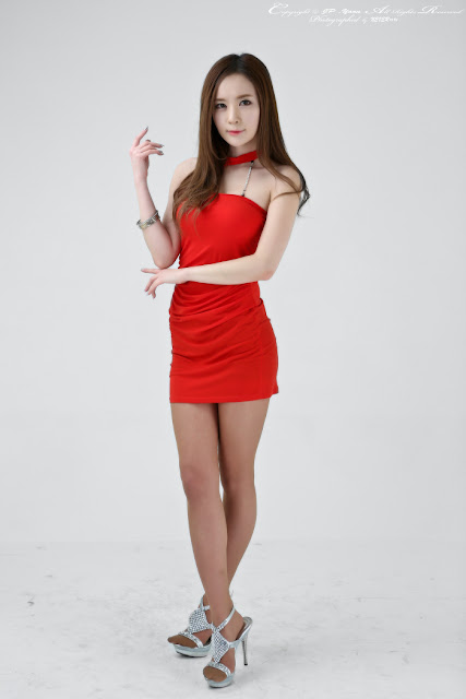 Lee Yeon Ah in Red Mini Dress