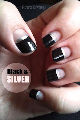 Nail of the week: Black & Silver