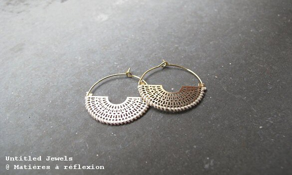 Boucles Maya Untitled Jewels ivoires